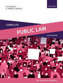 COMPLETE PUBLIC LAW. TEXT CASES & MATERIA