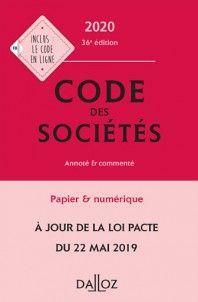 CODE DES SOCIÉTÉS 2020