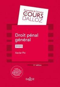 DROIT PÉNAL GÉNÉRAL 2020
