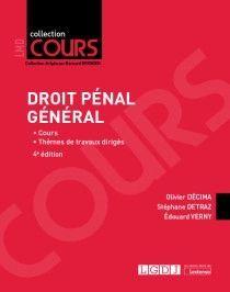 DROIT PÉNAL GÉNÉRAL