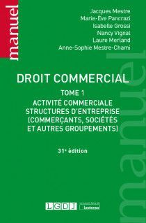 DROIT COMMERCIAL, TOME I
