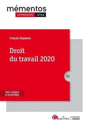 DROIT DU TRAVAIL 2020