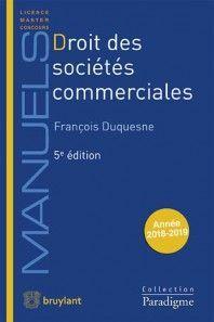 DROIT DES SOCIÉTÉS COMMERCIALES
