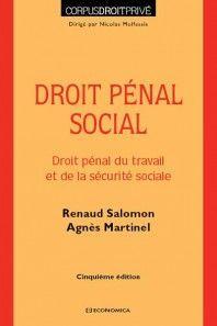 DROIT PENAL SOCIAL.