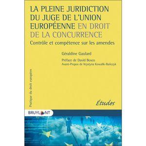 A PLEINE JURIDICTION DU JUGE DE L'UNION EUROPÉENNE EN DROIT DE LA CONCURRENCE