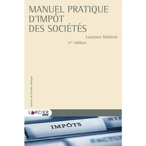 MANUEL PRATIQUE D'IMPÔT DES SOCIÉTÉS