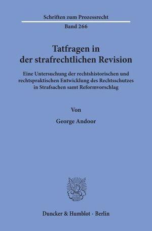 TATFRAGEN IN DER STRAFRECHTLICHEN REVISION.