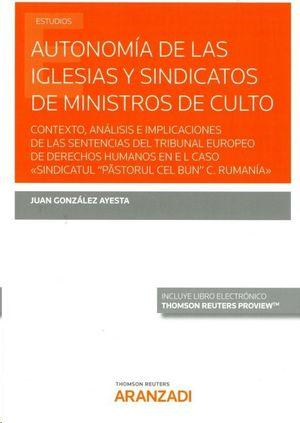 AUTONOMÍA DE LAS IGLESIAS Y SINDICATOS DE MINISTROS DE CULTO