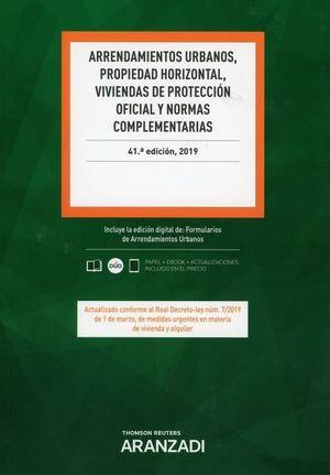 ARRENDAMIENTOS URBANOS PROPIEDAD HORIZONTAL VIVIENDAS PROTECCION OFICIAL Y NORMAS COMPLEMENTARIAS