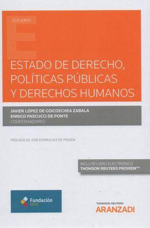 ESTADO DE DERECHO, POLITICAS PUBLICAS Y DERECHOS HUMANOS (DUO