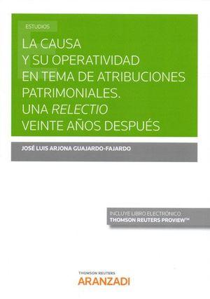 LA CAUSA Y SU OPERATIVIDAD EN TEMA DE ATRIBUCIONES PATRIMONIALES