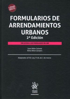 FORMULARIOS DE ARRENDAMIENTOS URBANOS