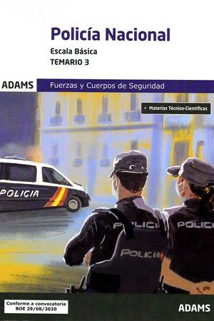 POLICIA NACIONAL. ESCALA BASICA. TEMARIO 3