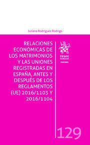RELACIONES ECONOMICAS MATRIMONIOS Y UNIONES REGISTRADAS EN ESPAÑA, ANTES Y DESPU