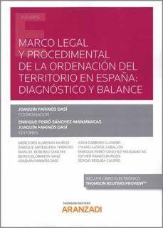 MARCO LEGAL Y PROCEDIMENTAL ORDENACION TERRITORIO EN ESPAÑA