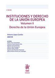 INSTITUCIONES Y DERECHO DE LA UNION EUROPEA II: DERECHO UNION EUROPEA