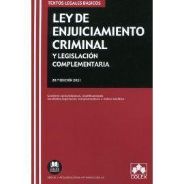 LEY ENJUICIAMIENTO CRIMINAL Y LEGISLACION COMPLEMENTARIA