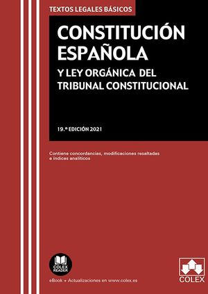CONSTITUCION ESPAÑOLA LEY ORGANICA TRIBUNAL CONSTITUCION 19