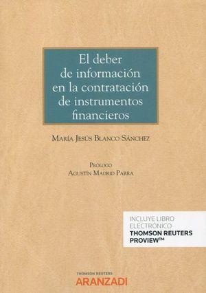 EL DEBER DE INFORMACIÓN EN LA CONTRATACIÓN DE INSTRUMENTOS FINANCIEROS
