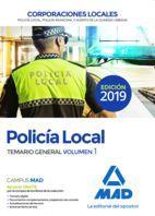 POLICIA LOCAL. TEMARIO GENERAL. VOLUMEN 1