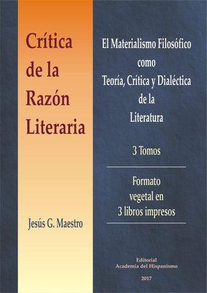 CRITICA DE LA RAZON LITERARIA. 3 VOLS.