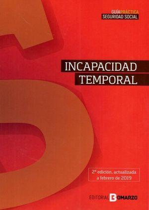INCAPACIDAD TEMPORAL 2019