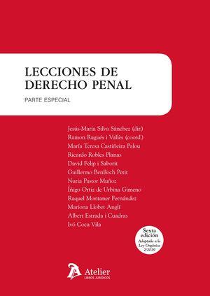 LECCIONES DE DERECHO PENAL. PARTE ESPECIAL.