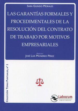 GARANTIAS FORMALES Y PROCEDIMENTALES DE LA RESOLUCION