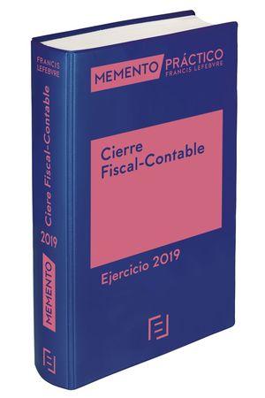 MEMENTO CIERRE FISCAL-CONTABLE. EJERCICIO 2019