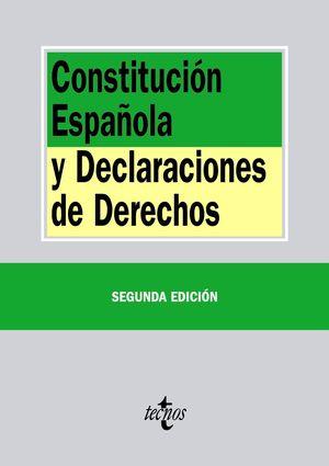 CONSTITUCION ESPAÑOLA Y DECLARACIONES DE DERECHOS(2º ED.)
