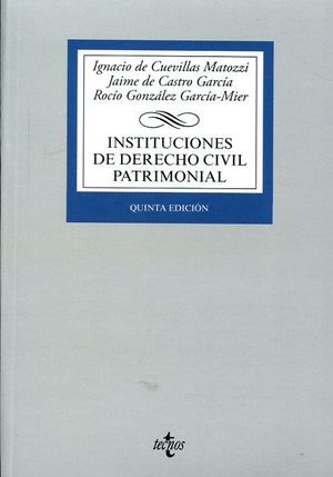 INSTITUCIONES DE DERECHO CIVIL PATRIMONIAL