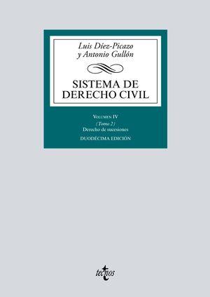SISTEMA DE DERECHO CIVIL. VOLUMEN  IV. TOMO 2