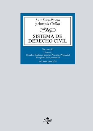 SISTEMA DE DERECHO CIVIL, VOLUMEN III. TOMO 1