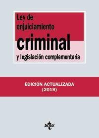 LEY DE ENJUICIAMIENTO CRIMINAL Y LEG. COMPLEMENTARIA