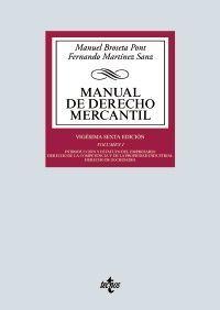 MANUAL DE DERECHO MERCANTIL. VOL. I.