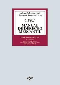 MANUAL DE DERECHO MERCANTIL. VOL. II.