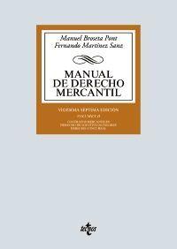MANUAL DE DERECHO MERCANTIL, VOL. II