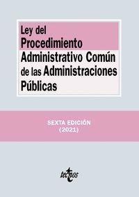 LEY DEL PROCEDIMIENTO ADMINISTRATIVO COMUN DE LAS ADMINISTRACIONES PUBLICAS