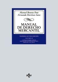 MANUAL DE DERECHO MERCANTIL. VOL. II