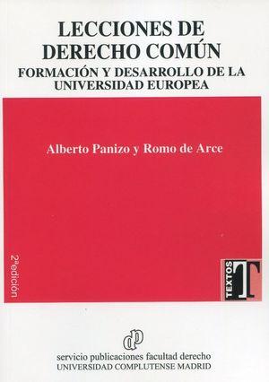 LECCIONES DE DERECHO COMÚN.