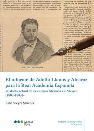EL INFORME DE ADOLFO LLANOS Y ALCARAZ PARA LA REAL ACADEMIA ESPAÑOLA. ESTADO ACT