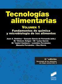 TECNOLOGÍAS ALIMENTARIAS. VOLUMEN 1