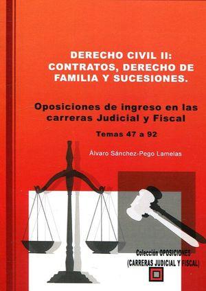 DERECHO CIVIL II: CONTRATOS, DERECHO DE FAMILIA Y SUCESIONES.