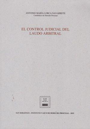 EL CONTROL JUDICIAL DEL LAUDO ARBITRAL
