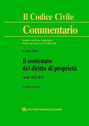 CONTENUTO DEL DIRITTO DI PROPRIETA. ARTT. 822 - 833