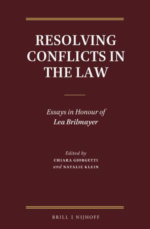 RESOLVING CONFLICTS IN THE LAW