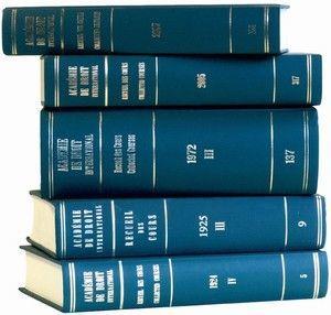 RECUEIL DES COURS, COLLECTED COURSES, T: 412-2020