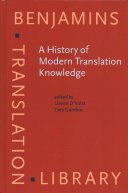 A HISTORY OF MODERN TRANSLATION KNOWLEDGE