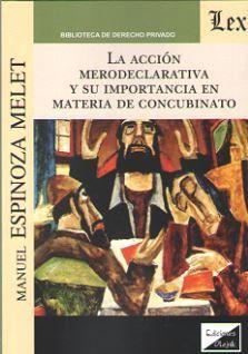 LA ACCION MERODECLARATIVA Y SU IMPORTANCIA EN MATERIA DE CONCUBINATO