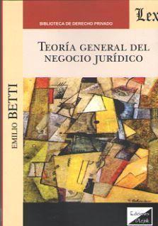 TEORIA GENERAL DEL NEGOCIO JURIDICO